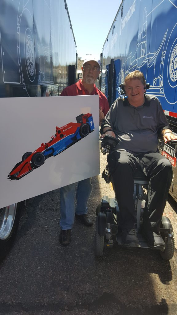"Sam Schmidt presentation of ""No.7 RW&B"