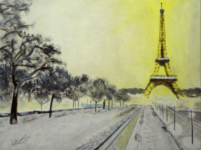 Eiffel Mist at Night